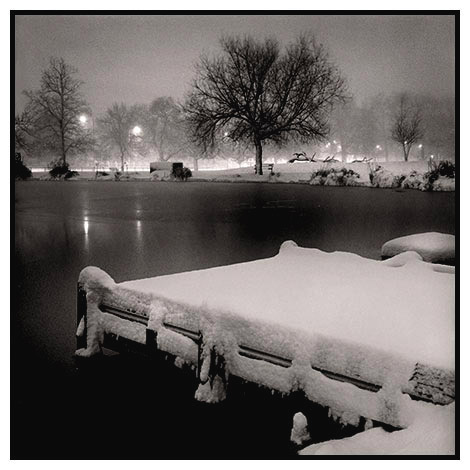 eagle pond snow night clapham common