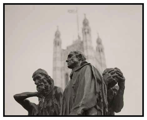 burghers of calais study 1  victoria tower gardens london